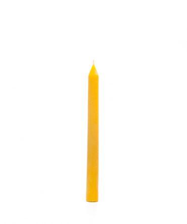 Świeca z wosku pszczelego – 190 mm – świecznikowa 4 – prosta