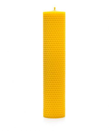 Świeca z węzy pszczelej 230 mm – walec 3