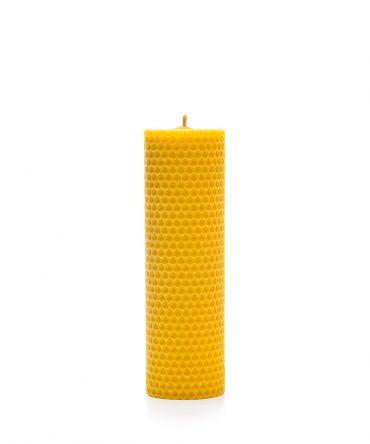 Świeca z węzy pszczelej 160 mm - walec 2